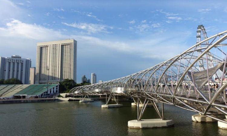 Jembatan Helix yang Unik